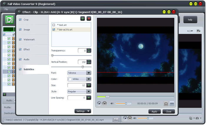 Full Video Converter Software Interface